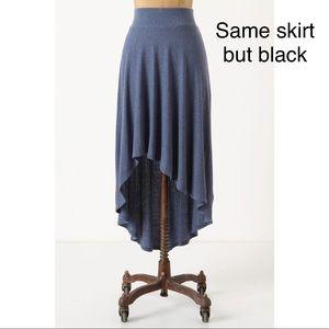 Anthropologie Bordeaux Black High-Low Skirt